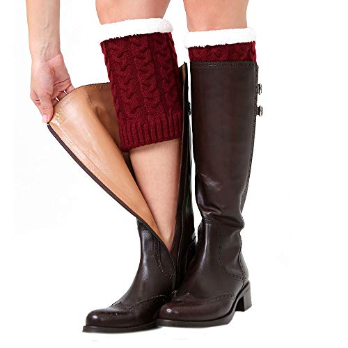Socken Leggings stricken Slouch häkeln Stiefel Wein Winter Frauen ...