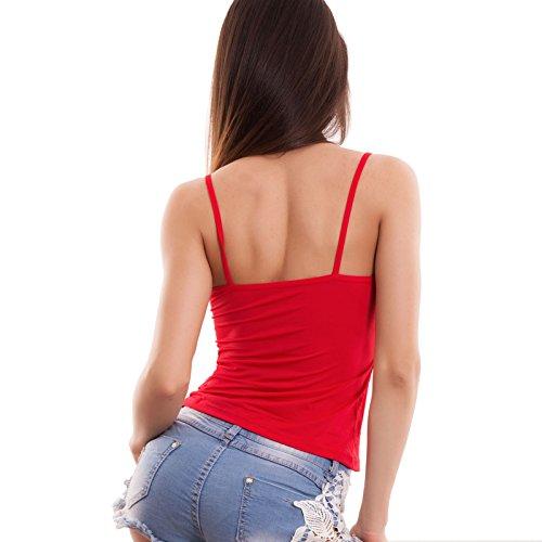 Toocool - Camiseta sin mangas - para mujer Rojo