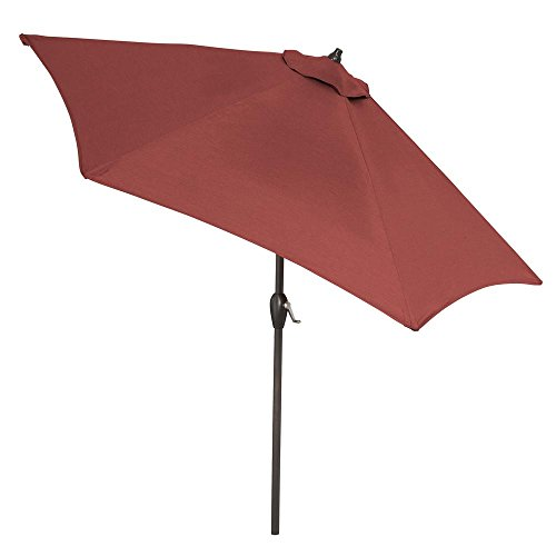 Plantation Patterns EverTRU 9 ft. Market Tilt Patio Umbrella in Weather and Fade Resistant Fabric in Powder Coated Aluminum Frame (Stand Not Included) (CushionGuard Aubergine)
