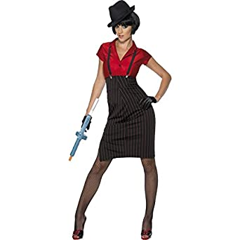1930s Style Skirts : Midi Skirts, Tea Length, Pleated Smiffys Womens 1920s Gangster Costume $56.40 AT vintagedancer.com
