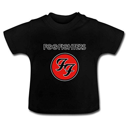 4T Unisex Little Kids Foo Fighters Logo Black Basic - Mew Logo