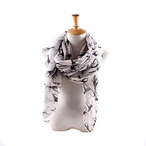 (ctshow giraffe Print Voile Print Scarf Fashionable Women Scarves shawl)