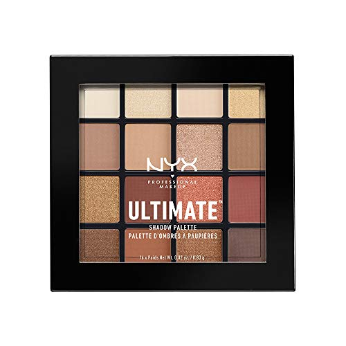 NYX PROFESSIONAL MAKEUP Ultimate Shadow Palette, Warm Neutrals, 0.02 oz /0.83 g