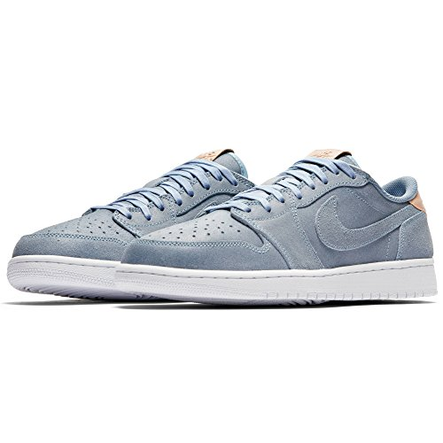Jordan Men Air Jordan 1 Retro Low OG Premium ice blue vachetta tan-white Size 10.0 US - Nike Jordan Air 1