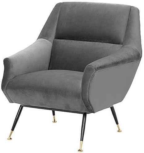 Casa-Padrino sillón de salón de Lujo Gris/Negro / latón 75 x ...