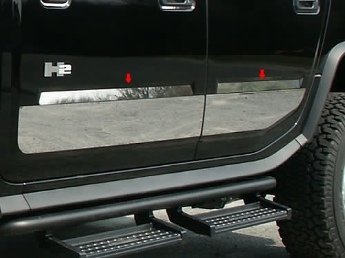 - QAA FITS H2 2003-2009 HUMMER (4 Pc: Stainless Steel Door Accent Trim, SUV) HV43013