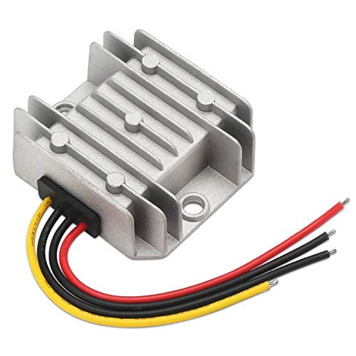12V Buck Converter, DROK DC-DC 8-36V 24V to 5V Fixed Output Power Supply Module, 5A 25W Voltage Step Down Regulator Stabilizer, DC Volt Step-Down Transformer Reducer for Car Display Screen Auto Audio