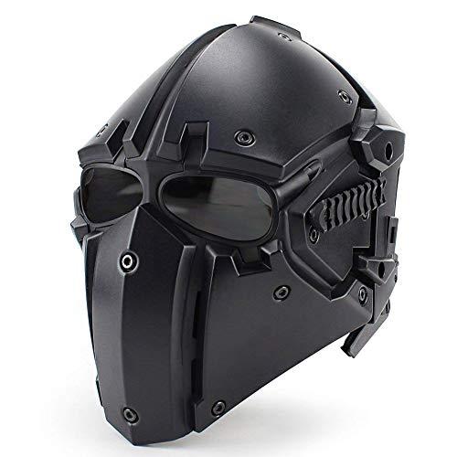 QZY Fast Tactical Casque Full Face Protectrice avec Visière Lunettes, pour La Chasse De Paintball Airsoft Moto Militaire… 1