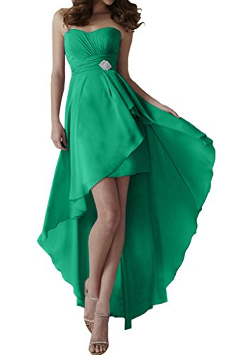 Missdressy - Vestido - Sin tirantes - para mujer Dunkelgruen