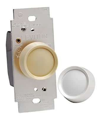 leviton 6602 w dimmer switch 600w trimatron incandescent full range rotary on off white. Black Bedroom Furniture Sets. Home Design Ideas