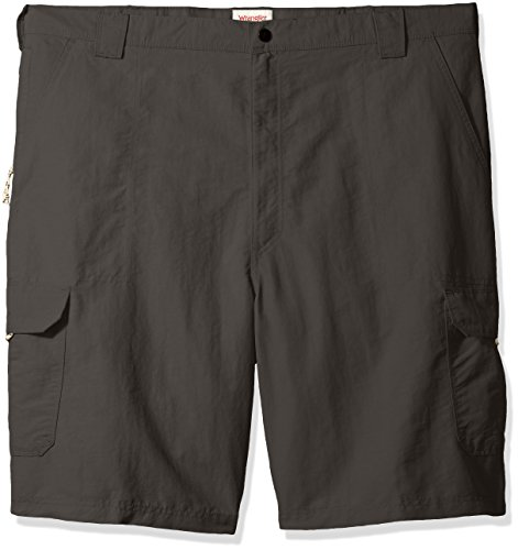 - Wrangler Men's Big and Tall Authentics Outdoor Nylon Cargo Short, Asphalt, 44