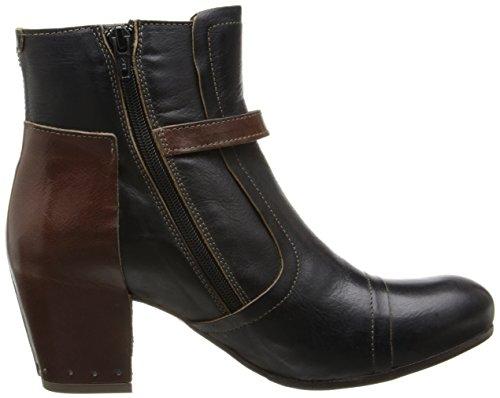 Fly London Kvinna Doe Boot Svart / Tan