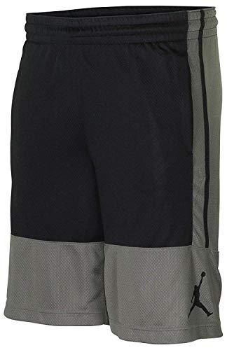Nike Air Jordan Rise Gray/Black Men's Basketball Shorts Grey Black AR2833 018 (XXL)