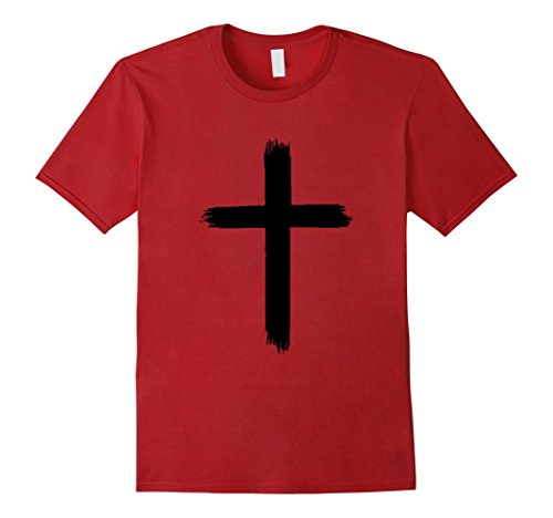 Mens Youth Cross Tee XL Cranberry