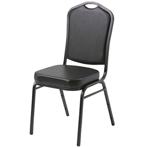 Atlas & Lane Stacking Chair - Black Fabric, Black Vinyl, Navy Fabric (Vinyl) -