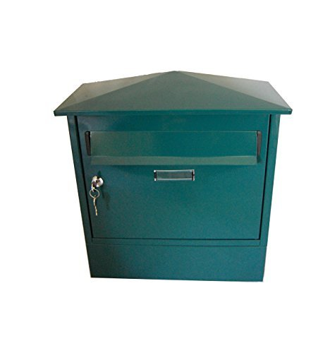 Green Newspaper Holder (G2 Trading Company 045 Itchen Steel Postbox with Newspaper Holder - green by G2 Trading Company)