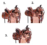 AceRugs Children Size 12″ 13″ Rough Out Leather Western Roping Ranch Horse Saddle TACK Premium Headstall REINS Breastplate