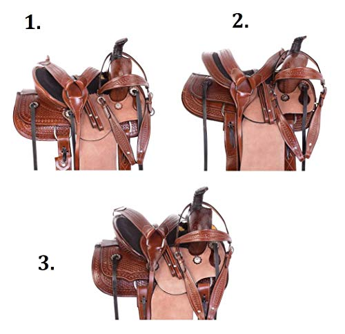 "- AceRugs 12"" Size 13"" Size Rough Out Western Roping RANCHING Youth Kids Children Horse Saddle TACK Set Premium Leather (2. Medium Oil, 13)"
