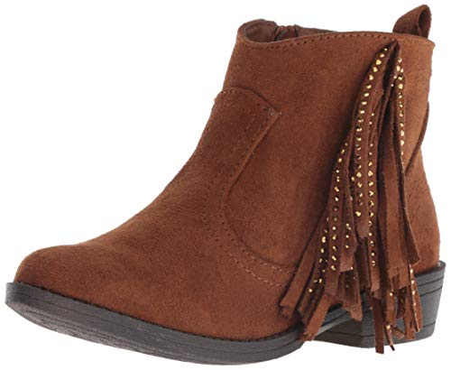 Steve Madden Girls' JMAGGY Fashion Boot, Cognac, 4 M US Big ()