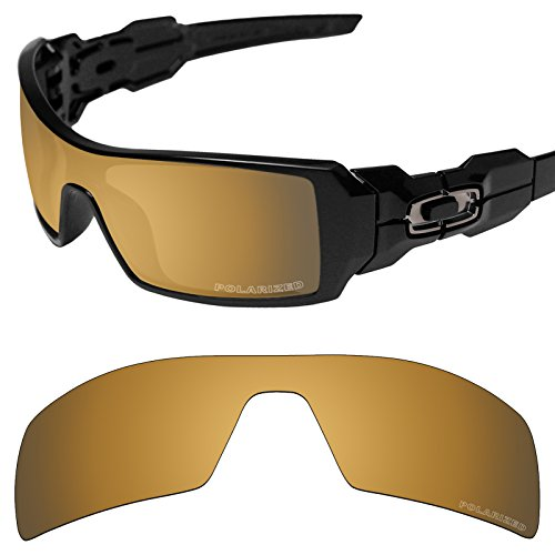 Tintart Performance Replacement Lenses for Oakley Oil Rig Sunglass Polarized Etched-Tungsten Gold
