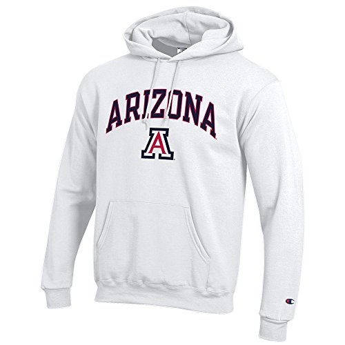 Elite Fan Shop Arizona Wildcats Hooded Sweatshirt Varsity White - - White Sweatshirt Arizona