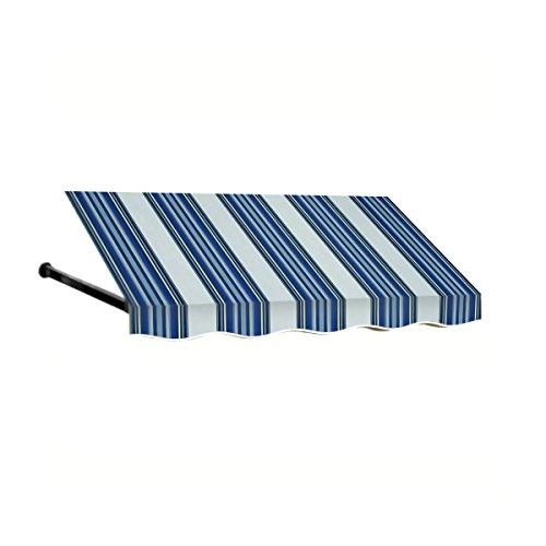 Awntech 3-Feet Dallas Retro Window/Entry Awning, 24 by 36-Inch, Navy/White ()