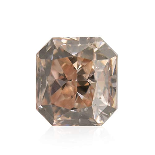 Leibish & Co 0.22Cts Fancy Brown Pink Loose Diamond Natural Color Radiant Cut GIA Cert