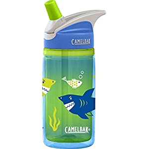 CamelBak Kids Eddy Insulated Water Bottle, 0.4 L, Blue Sharks