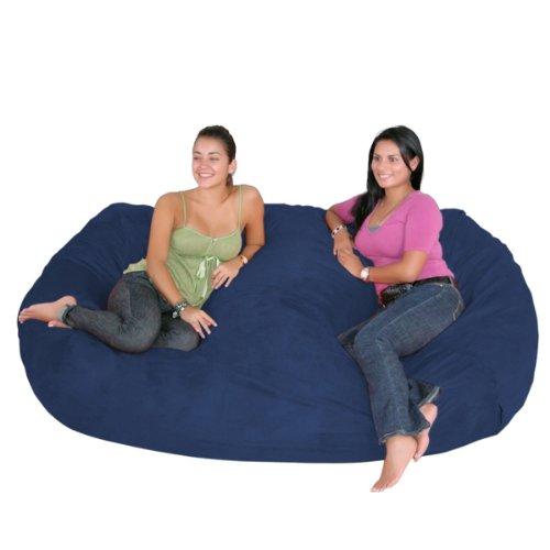 Comfort Sac Lounger - Cozy Sack 7-Feet Bean Bag Chair, X-Large, Navy