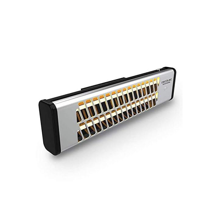 41d%2B99 Ti4L La tecnología Total Control permite seleccionar el ángulo de incidencia del calor El sistema Pull Chain Easy permite controlar los dos niveles de potencía y poner o detener el funcionamiento del radiador El modo eco permite optimizar el consumo de energía
