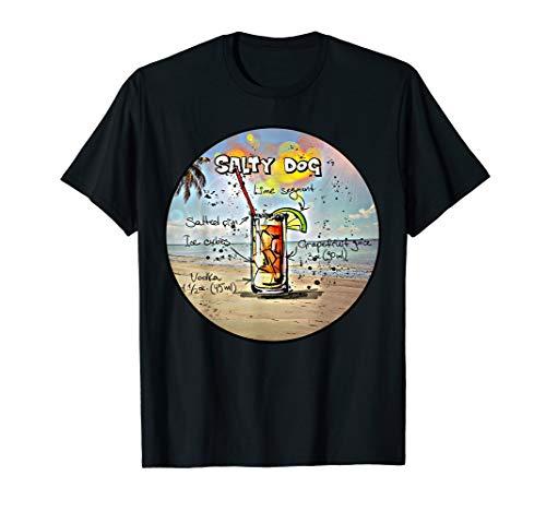 Salty Dog Cocktail Recipe T-Shirt (Salty Dog Tshirt)