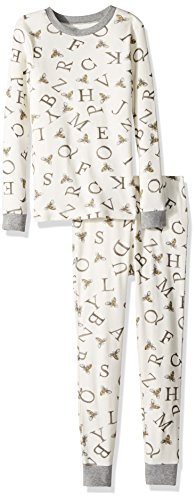 - Burt's Bees Baby Unisex Baby Pajamas, 2-Piece PJ Set, 100% Organic Cotton (12 Mo-7 Yrs), Eggshell A-Bee-C, 3T
