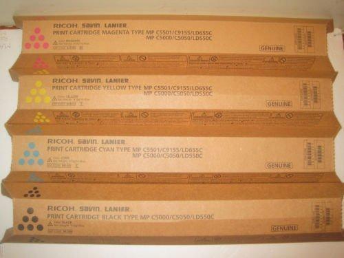 00 C5050 LD550C Toner Bundle Set BCYM 841284, 841453, 841454, 841455 ()