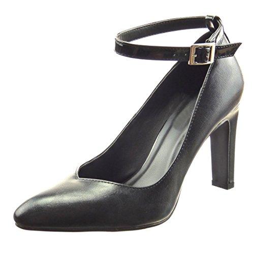 Sopily - Sapatos Da Moda Das Mulheres Da Bomba Patente Preto Laço Dekollete