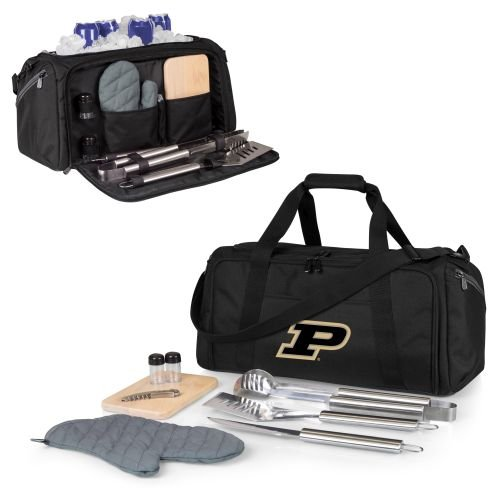 (PICNIC TIME NCAA Purdue Boilermakers BBQ Kit Cooler Tote with Barbecue & Accessories)