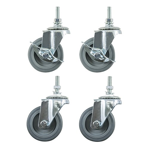 Review Houseables Caster Wheels, Casters,