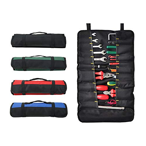 Tool Roll - Super Durable, Multi-pockets Screwdriver Organizer, Wrench Roll, Socket Organizer, Heavy Duty Waterproof Rolling Tool Box for Pliers, Ratcheting Wrenches