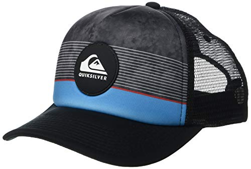 Pipe And Hat (Quiksilver Men's Stripe Pipes Trucker HAT, Hibiscus,)