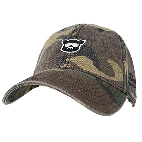Islanders Pig Face Relaxed Twill Adjustable Camo Hat, Army Camo, One Size (Brass Islander Antique)
