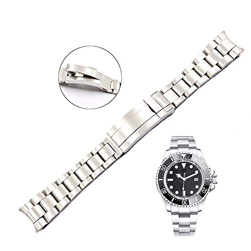 20mm Solid Curved End Screw Links Replacement Watch Band Oyster Bracelet For Deepsea (Rolex Watch Bands)