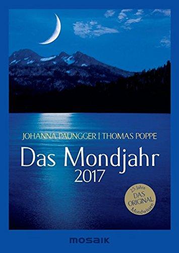 Das Mondjahr 2017: s/w-Taschenkalender
