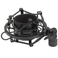 ZXUY Suspensión antivibración Micrófono Clip de soporte de montaje de choque (negro)