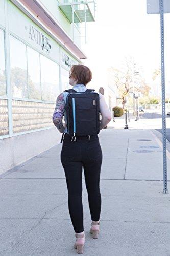 Professional Messenger Bag Backpack 2n1 for Lenovo Flex / Ideapad / Thinkpad / Chromebook 14 Laptop Black Aqua