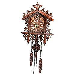 B Blesiya Decorative Wood Wooden Cuckoo Wall Clock for Home Decoration Christmas Housewarming Wedding Gifts - 2