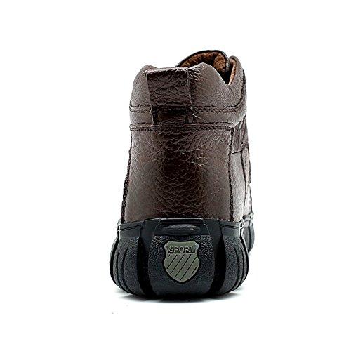 Taoffen Mens Snörning Chukka Boots Löparskor Casual Skor Brun