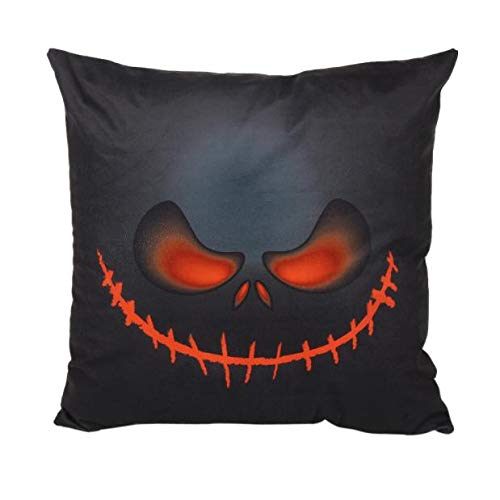 HomeMals Pumpkin Decorative Pillowcases Autumn Thanksgiving Pillow Covers Square Halloween Cotton Linen Throw Pillow Covers for Car Sofa Bed Couch