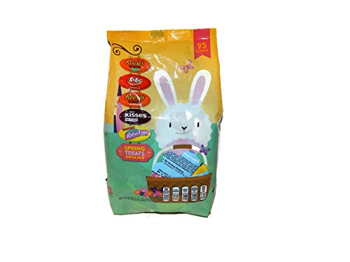 Hershey Spring Treats Mega Mix Easter Candy 95 Pieces 32.3 O