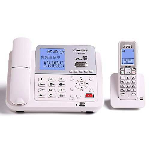 (電話 2.4G digital cordless telephone, 540 hours 8G recording fixed landline, automatic message internal wireless intercom, cordless main and sub-telephone One for one Fyxd (Color : White))