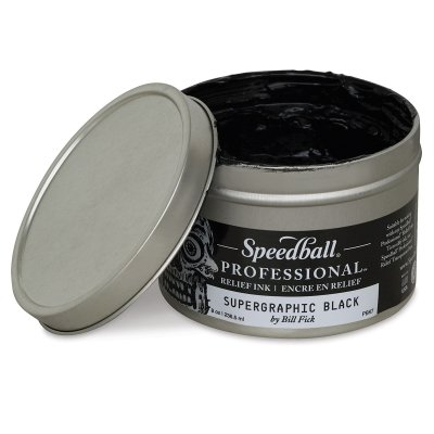 Speedball Professional Relief Ink 8 Oz Titanium White