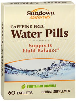 Sundown Naturals Natural Water Pills 60 Tablets (Pack of 6)